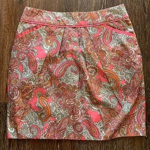 H&M pink paisley skirt size 8